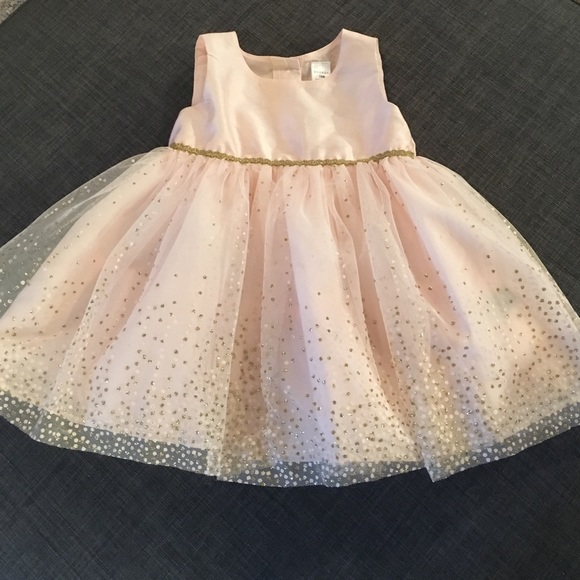 b6c94c1b1 George Dresses | Pink With Gold Shimmers Toddler Dress | Poshmark