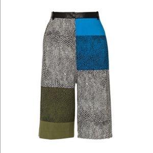 Tibi Silk Blend Wide Leg Capri
