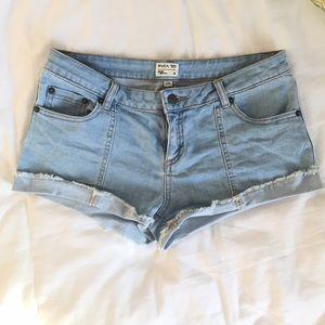 RVCA Light Wash Denim Shorts