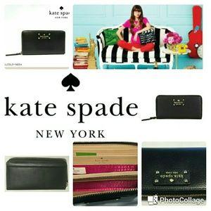NWOT Kate Spade Neda Black Wellesley Wallet Clutch