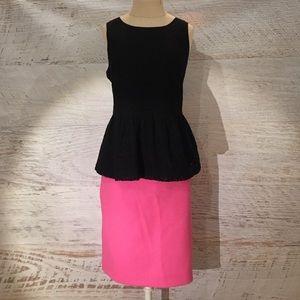 J.crew wool pencil skirt 12P neon pink