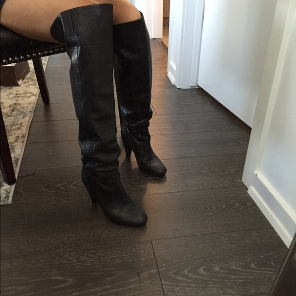 ee298bc1df87 Fornarina Shoes   Black Over The Knee Slouchy Boots   Poshmark