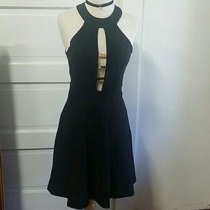 Little black dress with gold details