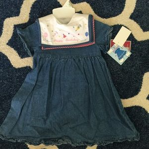 jcpenney Other - NEW sweet💜 Jean dress with changeable collars🇺🇸