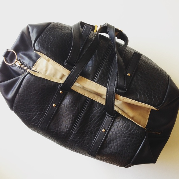 d7786f236567 French Connection Handbags - Black French Connection Laser Leather Bag!