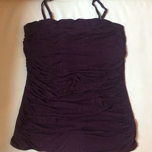 Purple Ruched Camisole