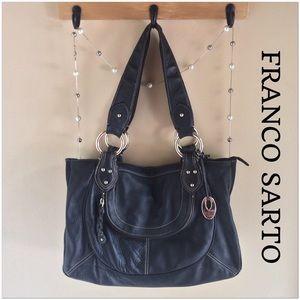 Franco Sarto Handbags - Franco Sarto Black Hobo Bag - EUC