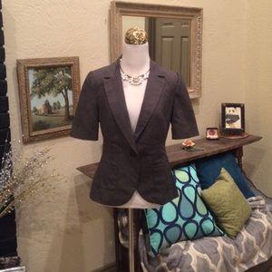 $45 Merona blazer jacket crop top Sz 4