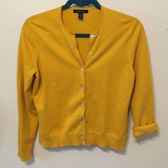69% off Lands' End Sweaters - Lands' End Petite Golden Yellow ...