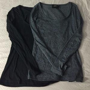 2 ASOS Long Sleeve Scoop Shirts