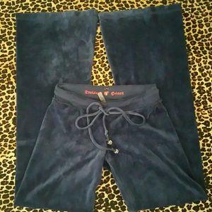 TWISTED HEART Pants - Twisted Heart Royal Blue Velour Pants
