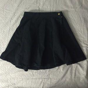 AA Black Denim Circle Skirt