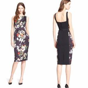 Nordstrom Signature Floral Twill Sheath Dress