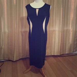 "Dresses & Skirts - Dress length 36"". Very very stretchy. Black w tan"