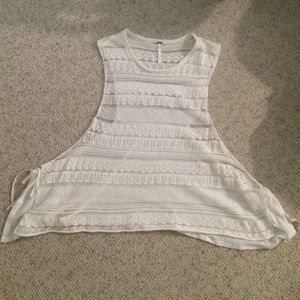 Free people see through lace tank