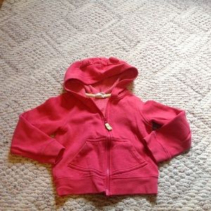 Crazy 8s Other - Coral pink girls sz 5/6 hooded sweatshirt
