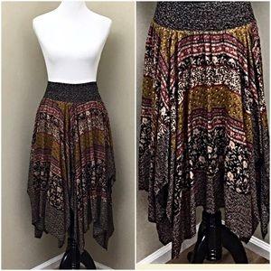 Hazel Urban Bohemian Whimsical Handkerchief Skirt