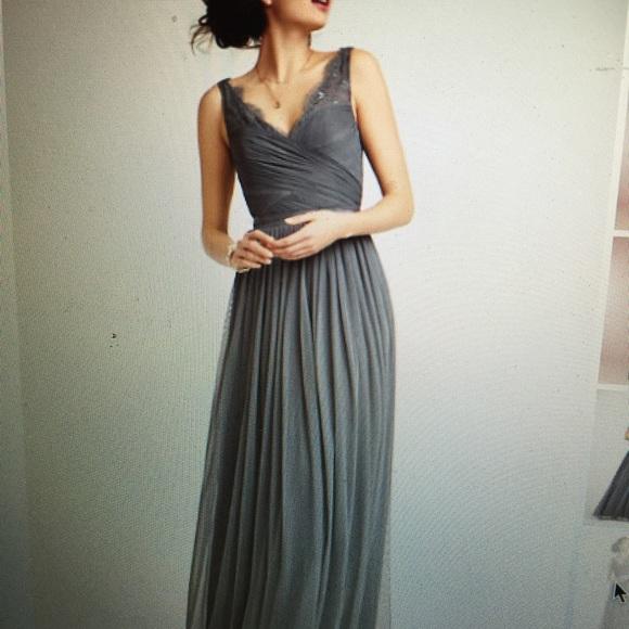 caa1aad7ba2c Anthropologie Dresses & Skirts - Anthropologie BHLDN Fleur dress-- pewter