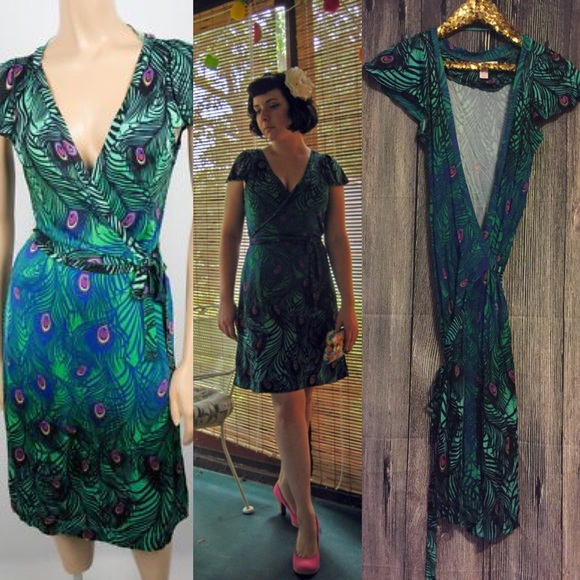 H M Dresses   Skirts - NWOT Matthew Williamson for HM Peacock Wrap Dress 8fed39615