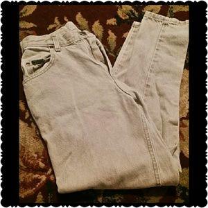 Women's Lee straight leg tan jeans/size 12