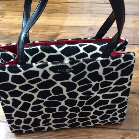 kate spade Handbags - Vintage Kate Spade Animal print classic bag 600608f45d