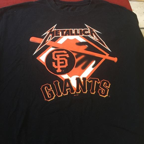 83ee82f41f Metallica San Francisco Giants shirt. M 57b10d6a291a35df5f013fe4
