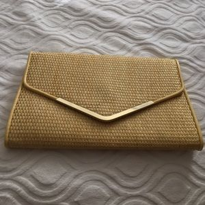 Envelope yellow gold clutch