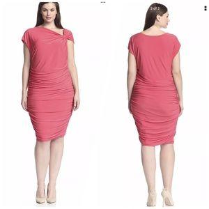 Melissa Masse Dresses & Skirts - Melissa Masse Plus 2X Front Knot Dress Coral