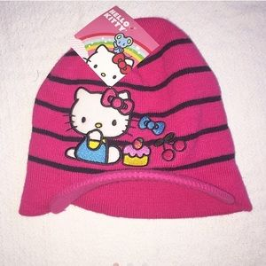 Sanrio Other - Hello Kitty Pink Stripped Hat NWT