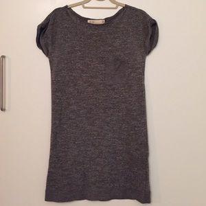 Madewell Hi-Line Gray Knit T-Shirt Dress XS