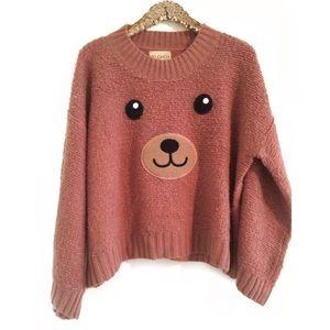 •WILDFOX• Teddy Girl White Label Sweater