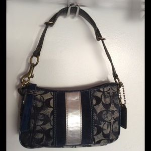 COACH Denim Signature Shoulder Bag