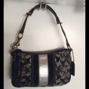 COACH Denim Signature Shoulder Bag