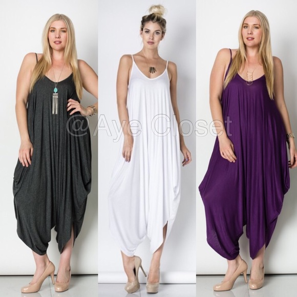 4174c61f2fb plus size harem oversized loose fit jumpsuit dress