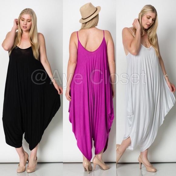 bd5be8bcfa9 plus size harem oversized loose fit jumpsuit dress