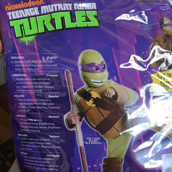 62 off Nickelodeon Other  Teenage Mutant Ninja Turtle Costume