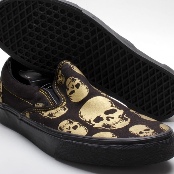 Vans Classic Slip-On Multi Skull Black Rich Gold. M 57b122be6d64bc728306a326 a230d4fcf
