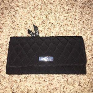 Black quilted Vera Bradley wallet.