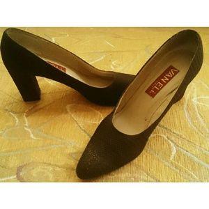 Vaneli Shoes - GLAM VINTAGE CHOCOLATE SEVERAL TEXTURED HEELS