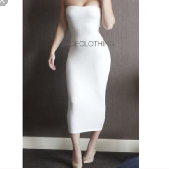 6dbcd9648bfd Jaide Clothing Dresses   Skirts - White tube top midi dress! Size small