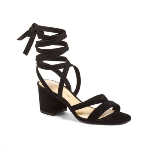 Ivanka Trump tie up suede Ellyn Sandals