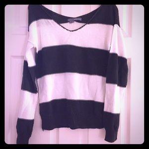 360 Sweater Sweaters - 360 Sweater :: chocolate // white stripe