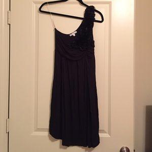 One shouldered black dress