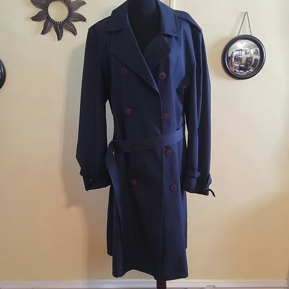 coupon code special section new high Men's Navy Blue Pierre Cardin Trench Coat Xl