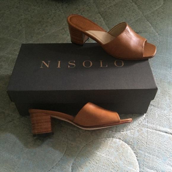 a64fc3391779f brand new nisolo  elizabeth  slides in Honey