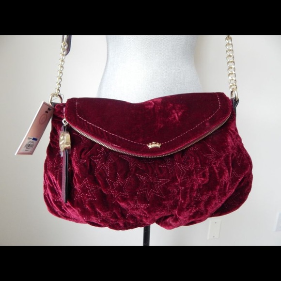 20f6ad79386d Juicy Couture Burgundy velvet crossbody bag!