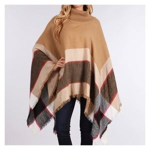 Accessories - ✨HP✨New Color- Tan Blanket Scarf, Poncho