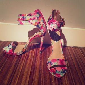 Steven Madden Floral Strappy Heels
