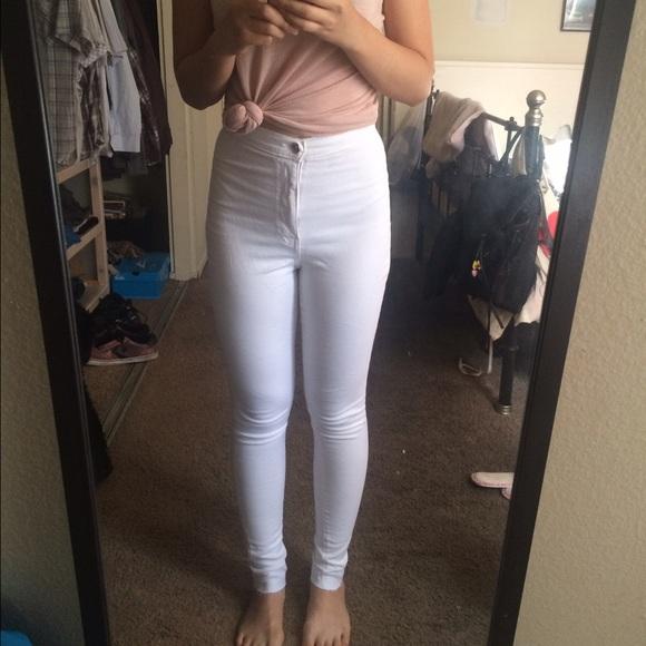 50% off Fashion Nova Denim - Fashion Nova White High Waisted Jeans ...