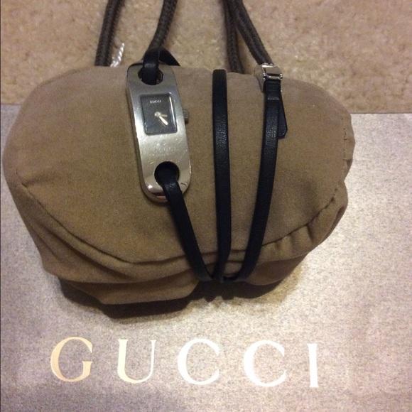 bda16e4a5c2 Gucci Accessories - Gucci women s leather wrap watch